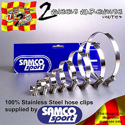Samco Sport Radiator Coolant Rad Hose Stainless Jubilee Clip Clamp Kit Ck Bet-2