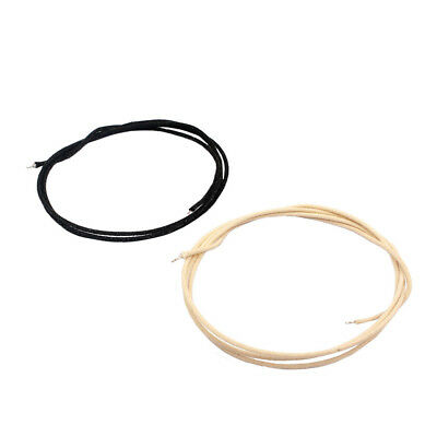 2pcs Copper Cotton Cloth Covered Sliver-plated PushBack Guitar Wire 1m