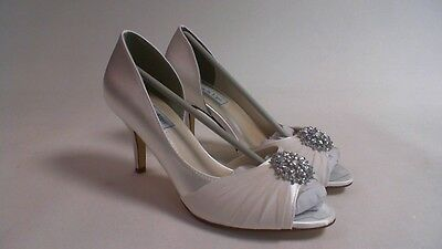 Delightful Touch Ups Wedding Shoes   White   Helen   US 9 M UK 7 #27E351