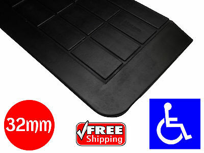 RUBBER THRESHOLD RAMP 32mm WHEELCHAIR ACCESS DISABLED DOOR STEP WEDGE MAT