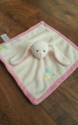 Cream & pink with love f&f bunny rabbit comforter comfort blanket
