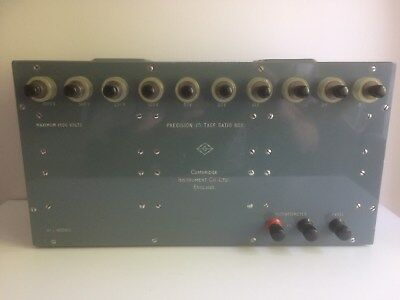 Vintage Cambridge Instruments Precision Voltage Ratio Box No. L-400813