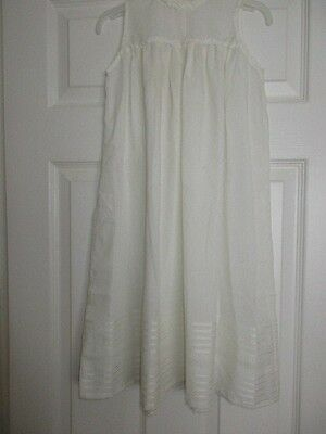 A Hand Made Vintage Babies White Underdress For A Christening Robe