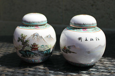 Chinese Ginger Pots 'River Li' Decoration
