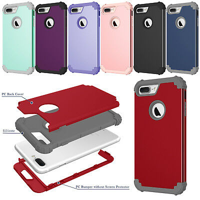 Heavy Duty Armor Shockproof Case Rugged Hybrid Rubber Cover For iPhone XR 7 Plus