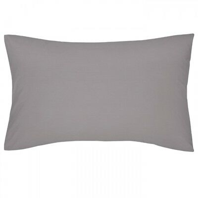 Grey Housewife Pillowcases - Pair