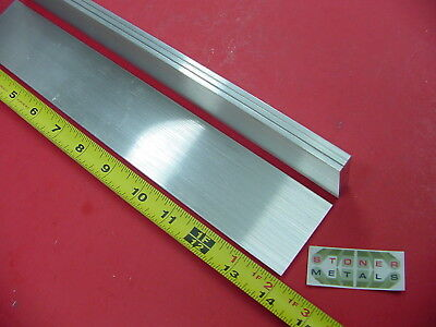"4 Pieces 1/8"" X 2"" ALUMINUM 6061 FLAT BAR 14"" long .125"" T6511 Plate Mill Stock"