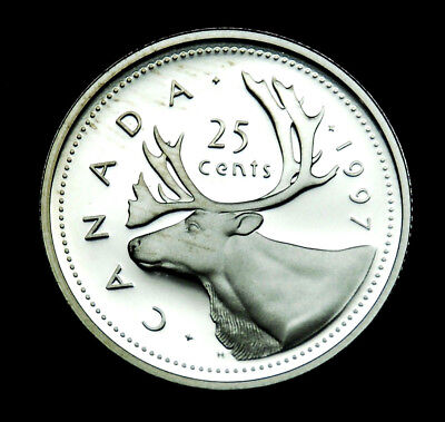 1997 Canadian 25¢ silver proof BU coin from the proof set
