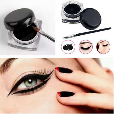 Impermeabile Eye Liner Eyeliner Gel Set con spazzola bellezza Make Up strumento