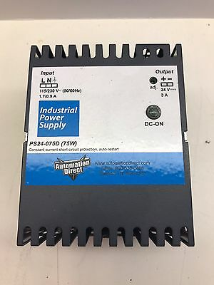 Automation Direct Industrial Power Supply Ps24-075D