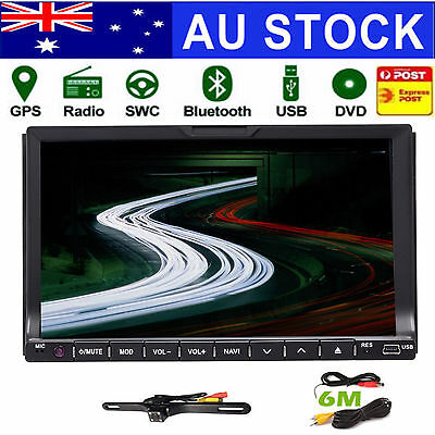 7inch GPS Navigation Double 2Din In Dash Car DVD Radio Stereo Player Ipod USB SD