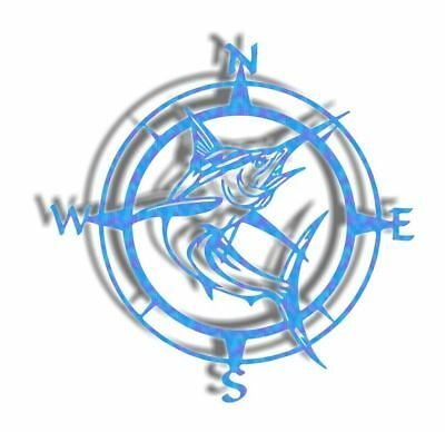 DXF CNC dxf for Plasma Router Compass Rose Marlin Man Cave Wall Art Beach Ocean