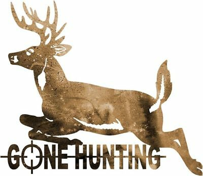 DXF CNC dxf for Plasma Router Deer Gone Hunting Cave Wall Art Hunting Wildlife