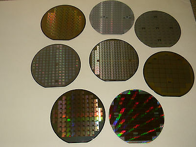 "6"" Silicon Wafer, Set of 8, from USA   ( AMD, TI, Cypress, Maxim, AMI, LSi, etc."