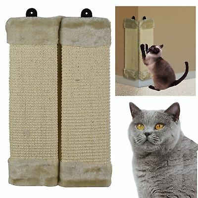 ASAB Pet Kitten Cat Hanging Wall Mounted Corner Sisal Scratch Post Board Mat