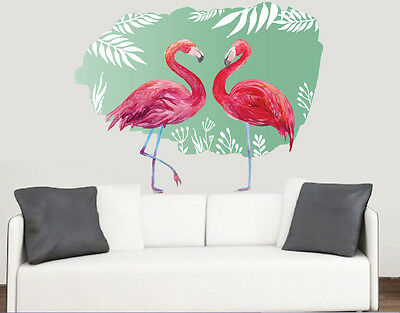 Tropical Flamingo Design Wall Art Vinyl Stickers African Colourful Decal Mural