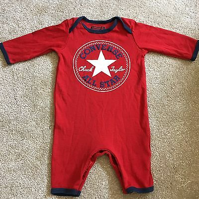Converse Baby All In One Outfit  Red 0-3 Months