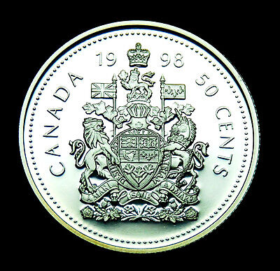 Canadian  1998 50¢ silver proof coin taken from proof set