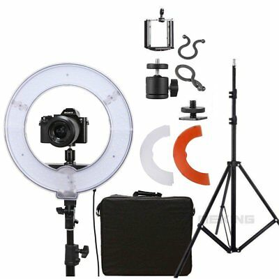 "14"" 40W 5500K Dimmable LED Adjustable Ring Light Kit With Diffuser Light Stand"