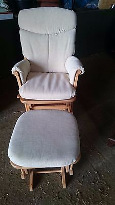 DUTAILIER Gliding/Reclining/Rocking Nursing Chair & Gliding Ottoman/Stool