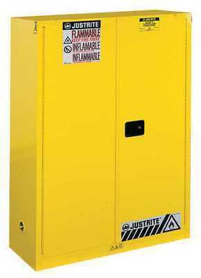 Flammable Cabinet,60 Gal.,Yellow JUSTRITE 894530