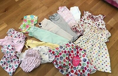 Bundle Baby Girl Clothes Trousers, Top, 6-12 Months