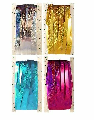 Holographic Tinsel Shimmer Foil Door Curtain Silver Gold Pink Party Decoration