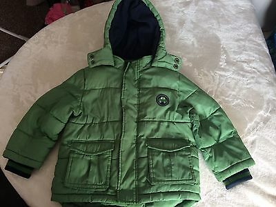 Sainsbury's TU Baby Boy's Coat Jacket Green Age 1 1/2- 2 years 18-24 months