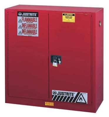 JUSTRITE 893021 Flammable Safety Cabinet, 30 Gal., Red
