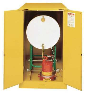 JUSTRITE 899320 Flammable Cabinet, Horizontal, 55 Gal., YLW