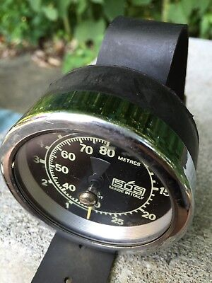 Antique Vintage Divers Depth Gauge SOS Made In Italy