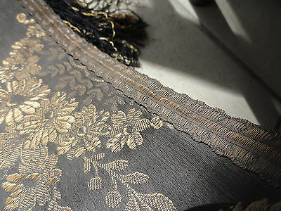 Antique Victorian Edwardian Tabletop Runner with Fringe.