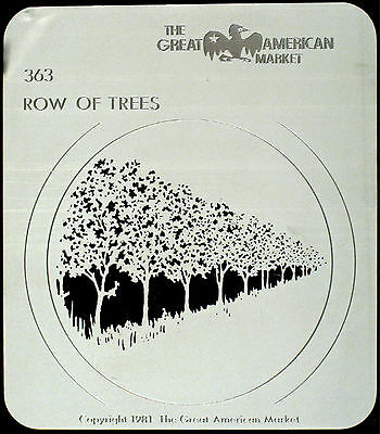 "Gobo template pattern - GAM 363 ""Row of Trees"""