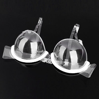 3/4 Cup Transparent Clear Push Up Bra Strap Invisible Bras Women Underwire #WOW
