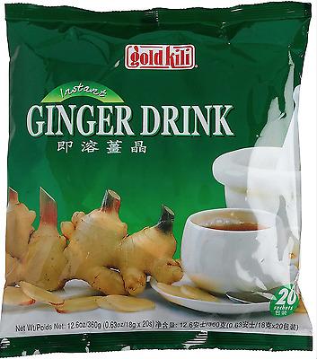 Gold Kili Instant Chinese Ginger Tea Drink 20x18g Sachets free delivery