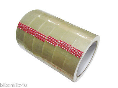"""Pack of Six (6) Clear Tape Roll 1"""" X 2,592"""". Stationary Tape 8029 CFO 072"""