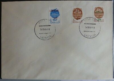 Lettland FDC 335 - 339   (s. Scan)