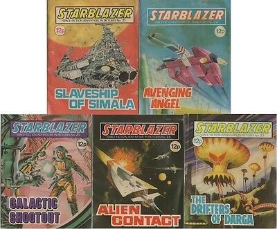 Starblazer - Space Fiction Adventure in Pictures No's 23,4,5,6 & 7