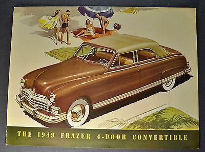 1949 Frazer 4-Door Convertible Sales Brochure Folder Excellent Original 49
