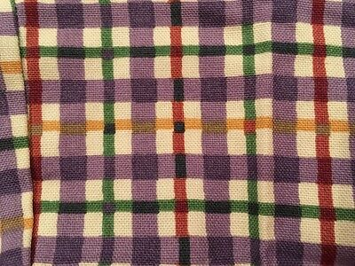 Longaberger New Blueberry Plaid Over The Edge Liner for the Small Spoon Basket