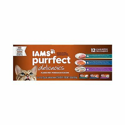 IAMS Purrfect Delicacies Flaked Adult Wet Cat Food Standard Packaging