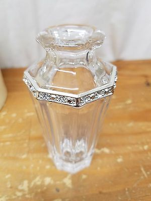 """Vintage Lenox Jewels Crystal Collectibles """"Diamonds and Pearls"""" 4"""" Urn Posy Vase"""