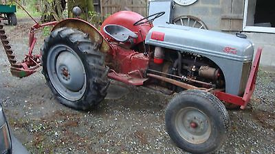 1949 Ford 8N Tractor with Wheel Weights, Chains