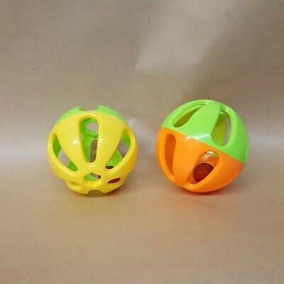 """1 pc 3"""" Hard Plastic Ball for Playtime Fun for Parrots Cat and Small Animals Too"""