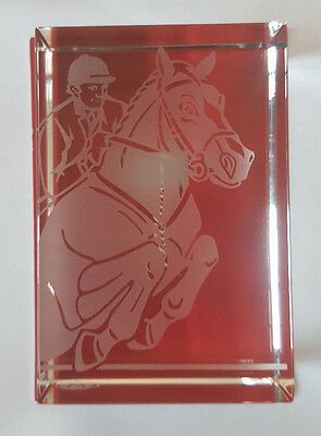 Equestrian-Horse- Crystal Paper Weight-- Baccarat --Rare-- (New)