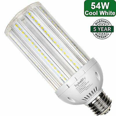 E39 Mogul 54W LED Corn Light Bulb Bright 5500lm 6000K Cool White Plug-n-Play