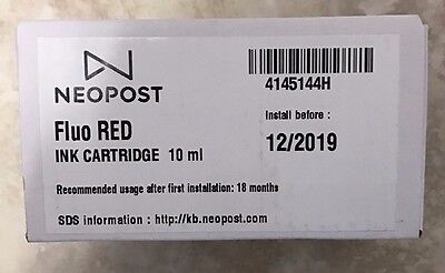 Genuine Neopost / Hasler ISINK2 / IMINK2 Fluo Red Ink Cartridge -  IS280 / IM280