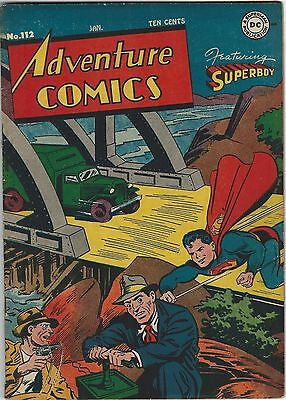 Adventure Comics, #112, Jan, 1947, VF Minus Condition - Golden Age Classic!