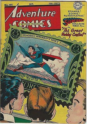 Adventure Comics, #121, Oct, 1947, Fine/VF Condition - Golden Age Classic!