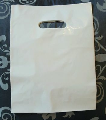 White Glossy Low-Density Plastic Merchandise Bags Wholesale lot Bags in 3 sizes